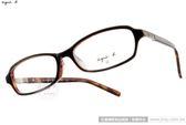 agnes b.光學眼鏡AB2081 BDA (黑-琥珀棕) 簡潔個性款鏡框 # 金橘眼鏡