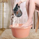 泡腳桶加厚大號塑料按摩洗腳盆泡腳足浴盆家用泡腳桶帶滾輪加高足浴桶XW(中秋烤肉鉅惠)