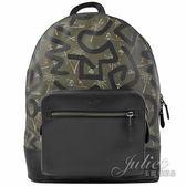 茱麗葉精品【專櫃款 全新現貨】COACH 50056 Keith Haring 聯名限量雙層後背包.綠/黑