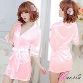情趣睡衣 性感睡衣 情趣商品 角色扮演 Gaoria熱戀情愫誘惑睡衣睡裙外罩衫睡袍粉紅N3-0078