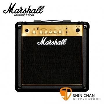 【缺貨】Marshall MG15 Gold 電吉他音箱 經典金色面板(15瓦/15w)MG15G / MG-15G 電吉他音箱專賣店