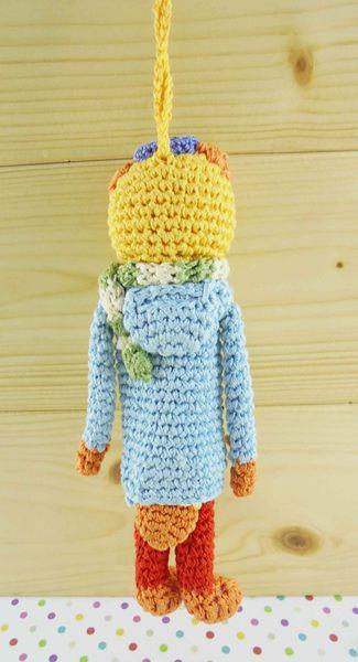 【震撼精品百貨】日本玩偶吊飾~針織材質-貓圖案-橘藍色
