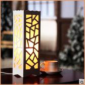 歐式美式復古床頭柜現代簡約歐式創意溫馨小書房臥室客廳花式臺燈