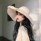 漁夫帽女夏棉麻大沿遮陽帽女防曬太陽帽帽子女百搭日繫盆帽 快速出貨