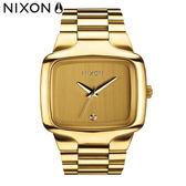 NIXON 手錶 原廠總代理A487-502 THE BIG PLAYER 金色 潮流時尚鋼錶帶 男女適用 運動 生日 情人節禮物