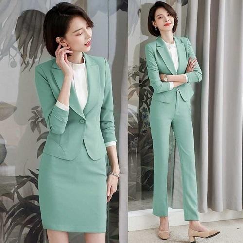 西裝套裝外套+褲/裙(兩件套)-純色一粒扣氣質韓版女西服8款73yz42[巴黎精品]
