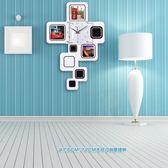 創意掛鐘時鐘大號相框客廳臥室裝飾現代時尚靜音北歐個性掛錶鐘錶xw 全館免運