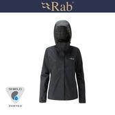 【RAB 英國 女 Downpour防水外套《黑》】QWF63/透氣外套/輕量/防風