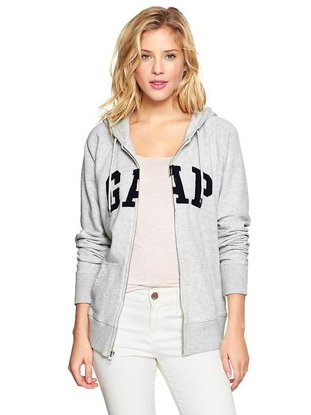 【BJGO】GAP_女裝_Shrunken logo hoodie 美國GAP-Logo連帽外套