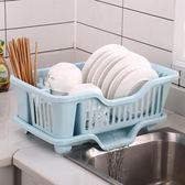 廚房瀝碗架塑料碗筷瀝水籃瀝水碗架放碗架置物架晾碗架餐具收納盒igo   酷男精品館