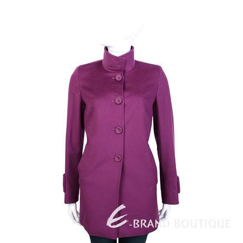 MaxMara 紫桃色立領設計釦式羊毛大衣 1430580-87
