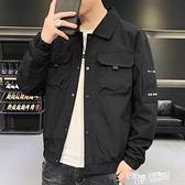 男士外套春秋季韓版潮流工裝上衣2021新款休閒百搭棒球服夾克秋裝 夏季新品