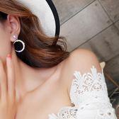 925銀針鑲鑽星星月亮耳釘女耳環不對稱耳墜氣質韓國個性網紅耳飾 衣櫥秘密