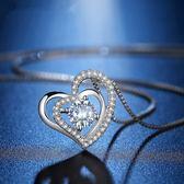項鍊 奢華愛交織滿鑽設計鋯石 925銀 鎖骨鍊