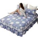 【限時下殺89折】床裙 棉質床裙式床罩單件5全棉2米1.8m防滑8床套蕾絲邊100%床單