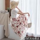 【天母嚴選】浪漫花卉百摺雪紡長裙(共二色...