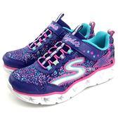 《7+1童鞋》SKECHERS 10920L/PRMT 亮燈 星星 輕量 慢跑 運動鞋 B970 紫色