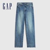 Gap女裝 時尚淺色直筒型五袋牛仔褲 600434-藍色