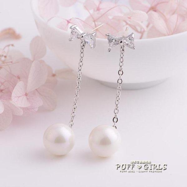 耳飾-珍珠耳釘女氣質韓版個性簡約耳飾純銀甜美耳環防過敏日韓耳墜