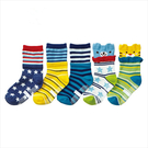 【韓風童品】(5雙/組)男童卡通造型棉襪 寶寶襪 兒童短襪子 嬰幼兒襪子 男童防滑襪子