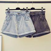 大尺碼短褲胖大碼牛仔短褲女夏季200斤高腰寬松A字闊腿熱褲子G883(R11)