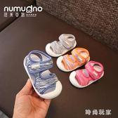 夏款嬰兒涼鞋女寶寶學步鞋1-2歲男童包頭防踢涼鞋不掉軟底幼兒鞋 st3962『時尚玩家』