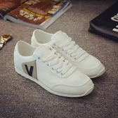 帆布鞋低筒男鞋春季潮鞋男板鞋白色休閒鞋學生布鞋  小時光生活館