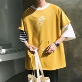 【新年鉅惠】夏季新款2019學生短袖t恤韓版潮流寬鬆衣服