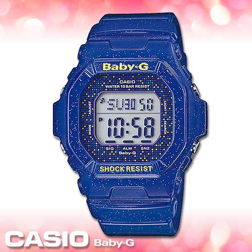 CASIO卡西歐 手錶專賣店  Baby-G BG-5600GL-2D 女錶 夏日風 礦物玻璃 防水100米 閃耀星空錶帶