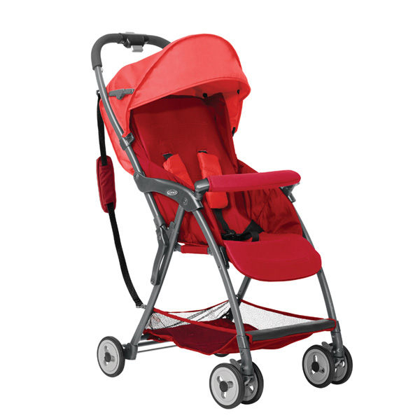 Graco 超輕量型單向嬰幼兒手推車 羽量級 FEATHERWEIGHT-艷陽紅【佳兒園婦幼館】