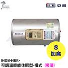 《亞昌》8加侖儲存式電能熱水器**橫式吸...