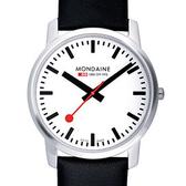 4.1cm 薄型藍寶石水晶腕錶 Mondaine 瑞士國鐵錶