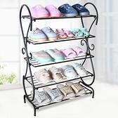 鞋櫃 鐵藝鞋架 簡易門口鞋架子 家用 經濟型歐式進門多層鞋櫃收納 夢藝