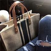 手提包 韓版女士手提公文包職業商務通勤新簡約時尚帆布大包包單肩