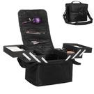單肩手提雙開多層專業化妝箱 美甲紋繡彩妝工具收納包