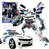 變形玩具金剛4 超大警車大黃蜂聲光版大號汽車機器人男孩兒童模型