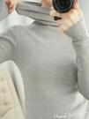 高領毛衣 秋冬新款洋氣高領毛衣女套頭短款長袖修身緊身堆堆學生針織打底衫 小天使