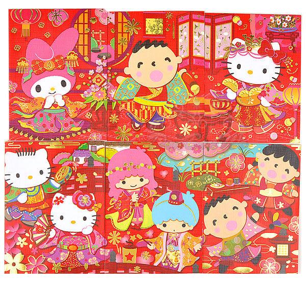 Hello Kitty丹尼爾美樂蒂雙子星大寶新年紅包袋8入組燙金古裝迷你084161通販屋