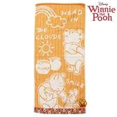 【SAS】日本限定 迪士尼 UCHINO 小熊維尼&小豬 糖罐雲朵版 長毛巾 / 毛巾 35×75cm