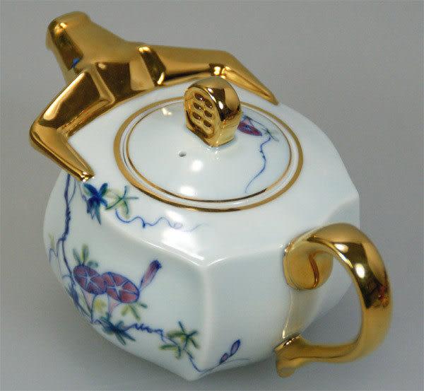 鹿港窯~居家開運鎏金【牛轉乾坤】茶壺◆商品內容:1壺◆免運費送到家
