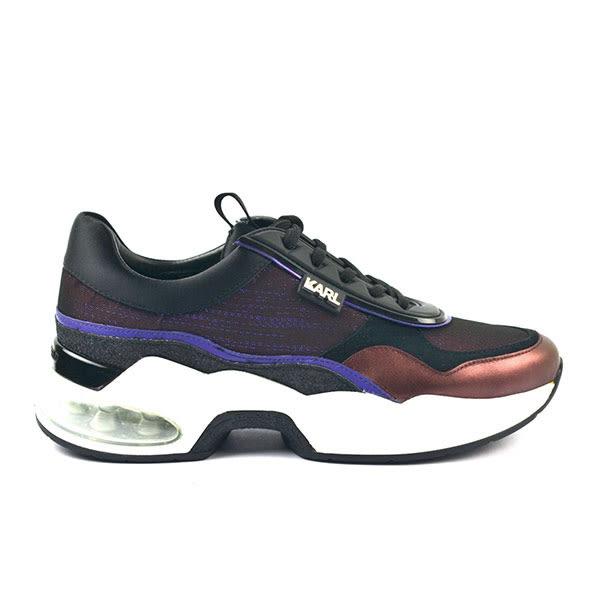 Karl Lagerfeld 卡爾 老佛爺 鞋 VENTURA復古老爹鞋-黑紫
