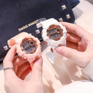 流行女錶 帶鬧鐘的手錶女學生韓版簡約ins風糖果色運動大錶盤防水電子錶男 店慶降價