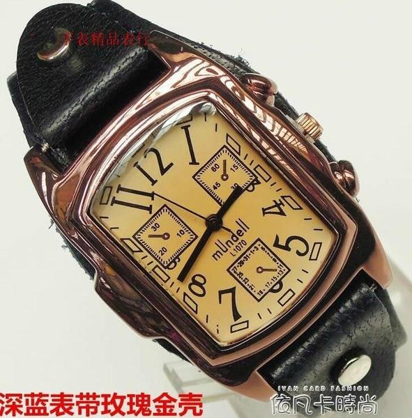 女士錶手錶女士防過敏手錶純皮帶長方形手錶學生錶韓版復古錶 依凡卡時尚