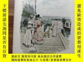 二手書博民逛書店【罕見】1890年套色木刻版畫《漢堡阿爾斯特湖遊船碼頭》(Ham