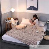 日式水洗棉全棉夏被空調被夏涼被可水洗簡約條紋單雙人夏天薄被子 韓慕精品 YTL