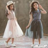女童夏裝2018新款連衣裙韓版兒童夏季中大童女孩洋氣裙子公主紗裙