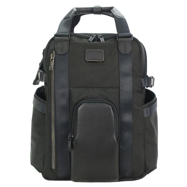 【南紡購物中心】TUMI ALPHA BRAVO KINGS簡約前口袋後背包(適用15吋筆電)-黑