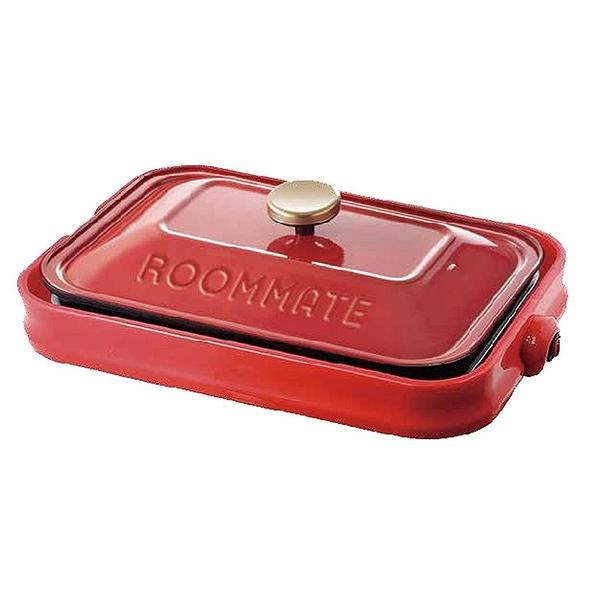 日本ROOMMATE 多功能鑄鐵電烤盤(2-3人份量),附3個烤盤 -平盤+烤肉盤+章魚燒盤