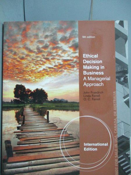【書寶二手書T2/大學商學_QEY】Ethical Decision Making in Business…_Fraed