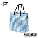 手提袋-編織袋(S)-藍白千鳥-03C